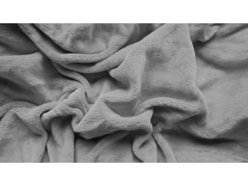 prostěradlo mikroplyš plyšové teplé dvoulůžko 180 x 200 cm šedé