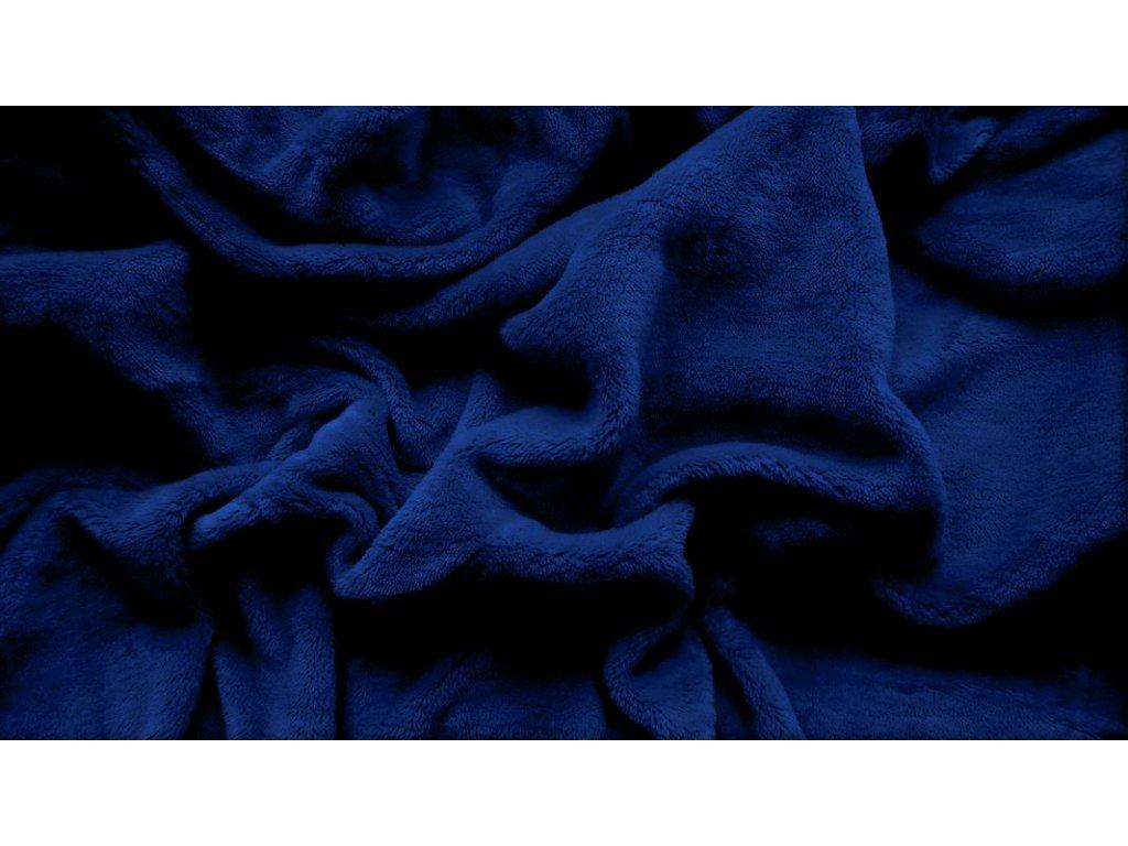 prostěradlo mikroplyš plyšové teplé jednolůžko 90 x 200 cm modré
