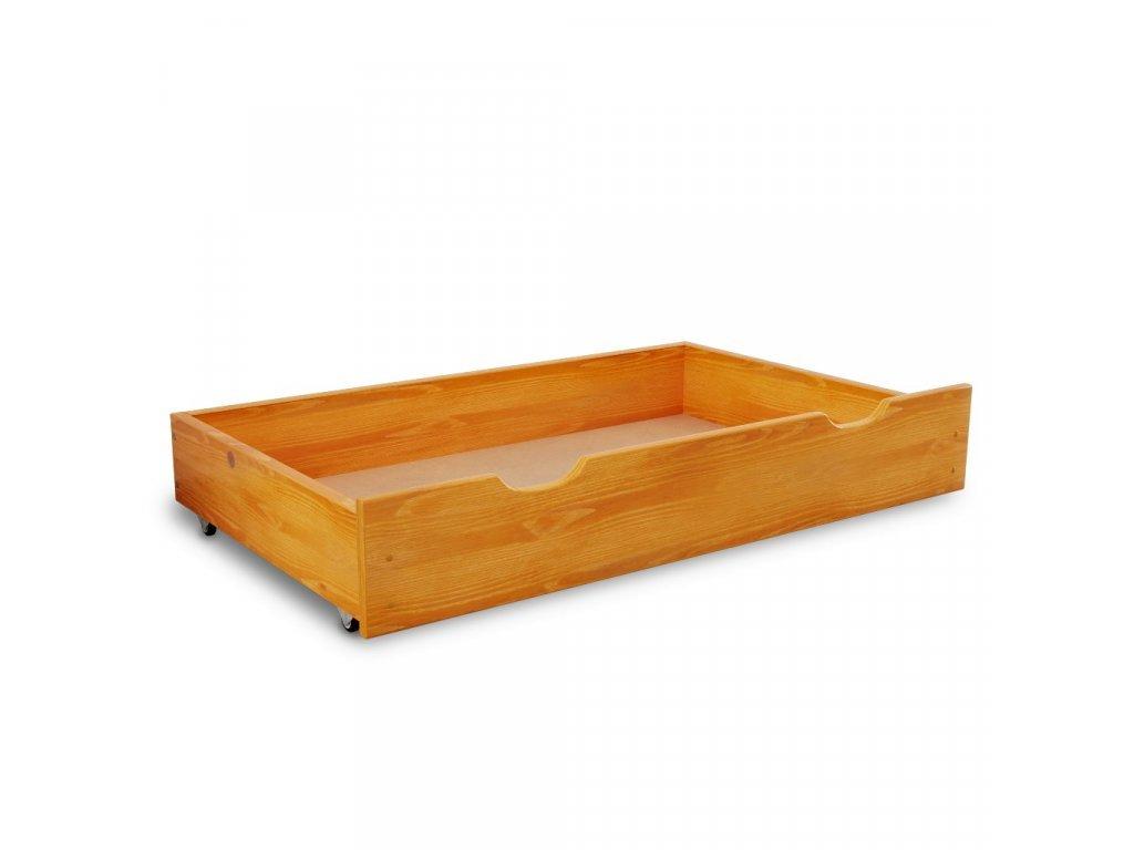 Úložný box pod postel 150 cm, olše