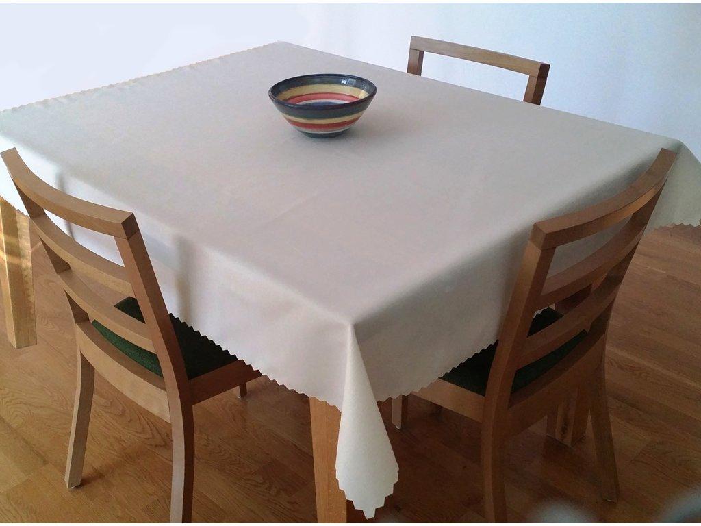 Teflonový ubrus krémový