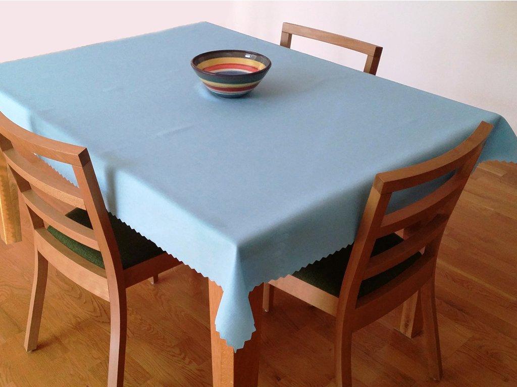 Teflonový ubrus 140x120 cm světle modrý