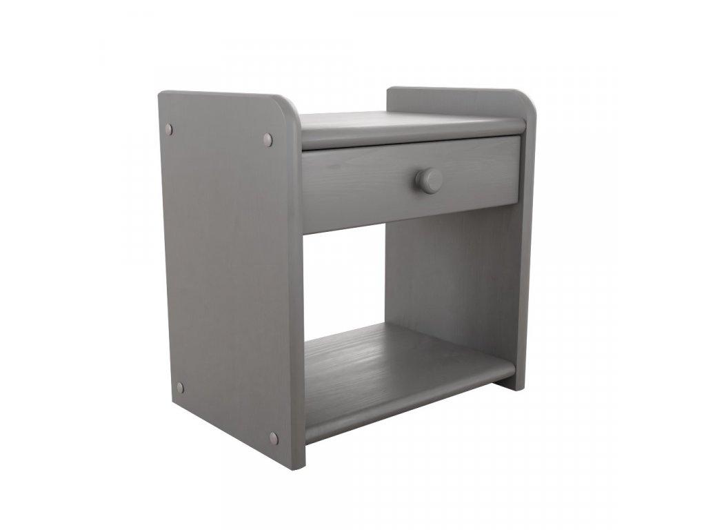 Noční stolek Ilona šedý