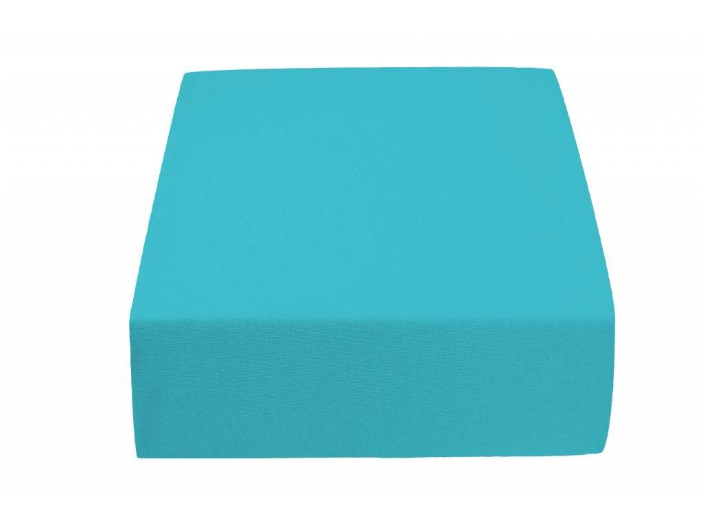 Jersey prostěradlo MICRO tyrkysové 90 x 200 cm