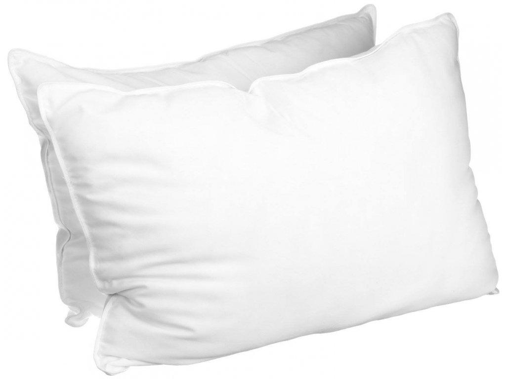 Bílý povlak na polštář zip