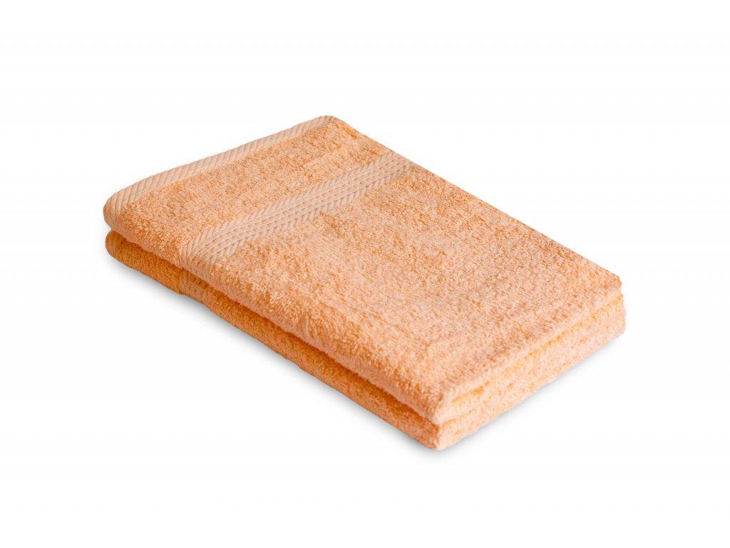 Ručník malý 40 x 60 cm dětský pro hosty bavlněný lososový oranžový