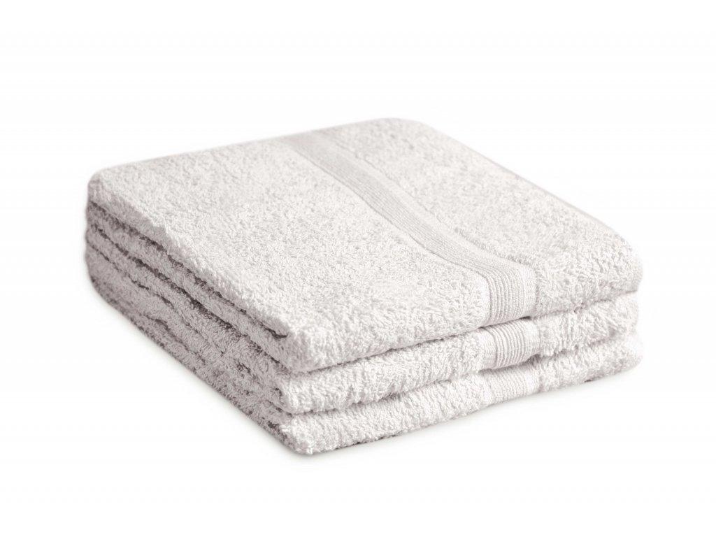 Ručník bavlněný 50 x 90 cm bílý