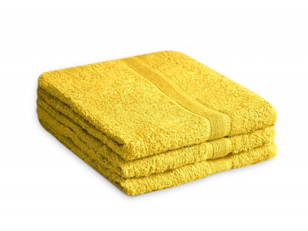 Ručník bavlněný 50 x 90 cm žlutý
