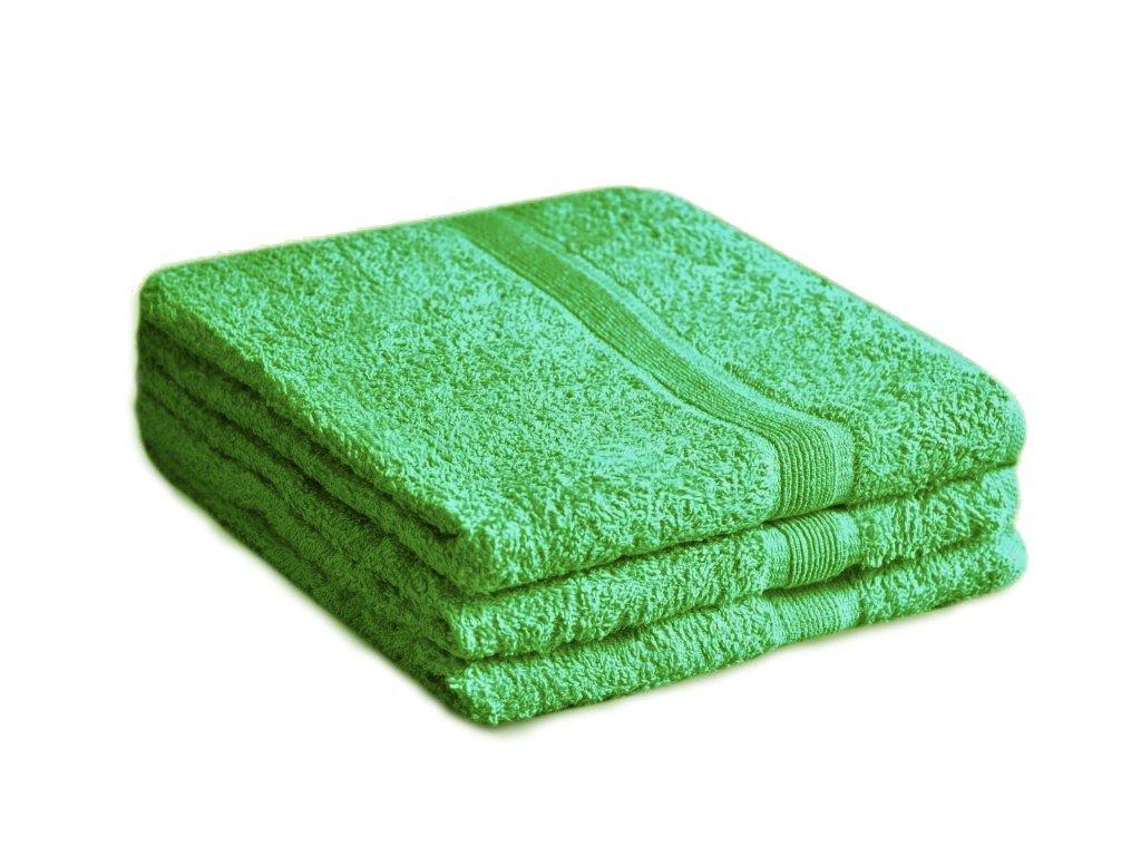 Ručník bavlněný 50 x 90 cm zelený
