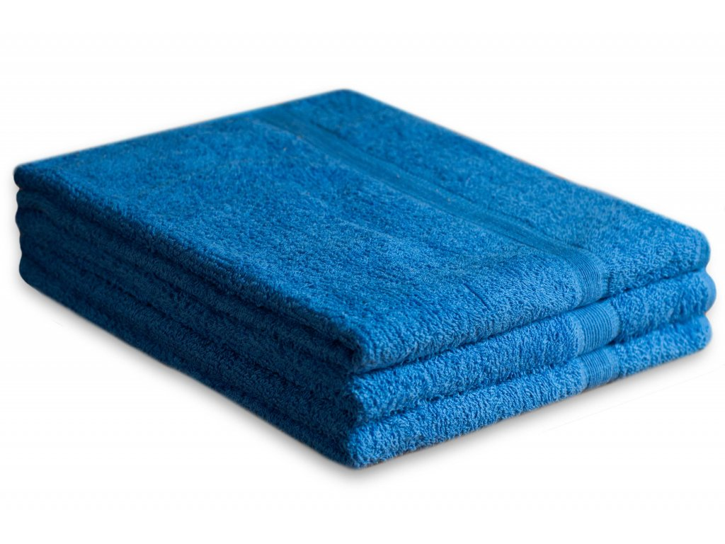 Osuška bavlněná 70 x 125 cm modrá