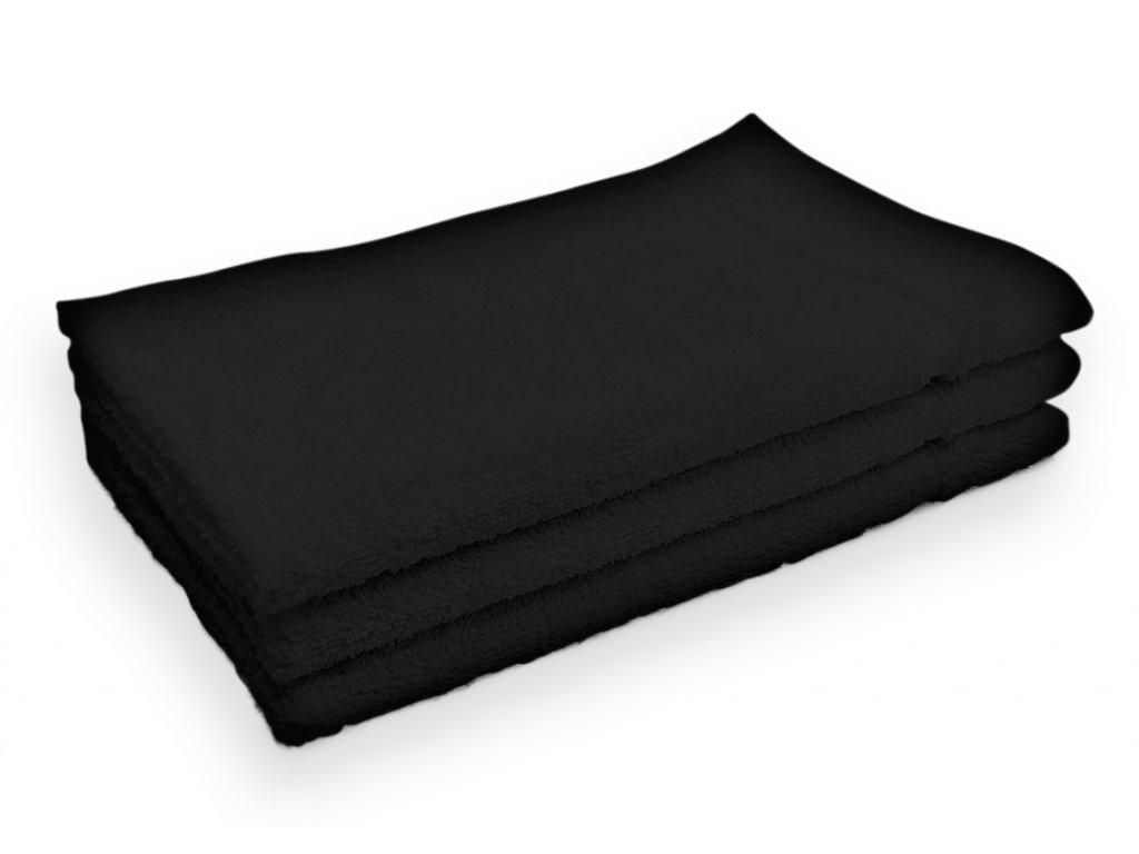 Ručník malý dětský pro hosty bavlněný černý
