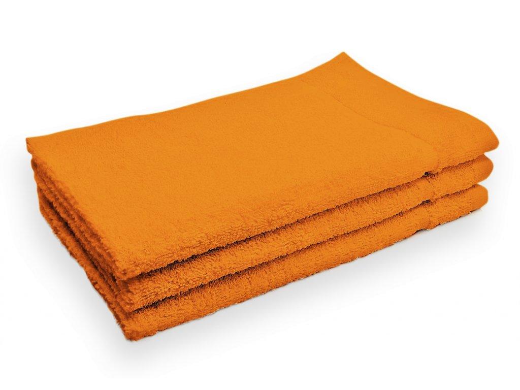 Ručník malý dětský pro hosty bavlněný oranžový
