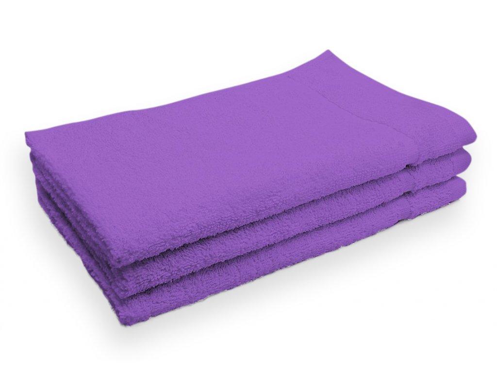 Ručník malý dětský pro hosty bavlněný fialový