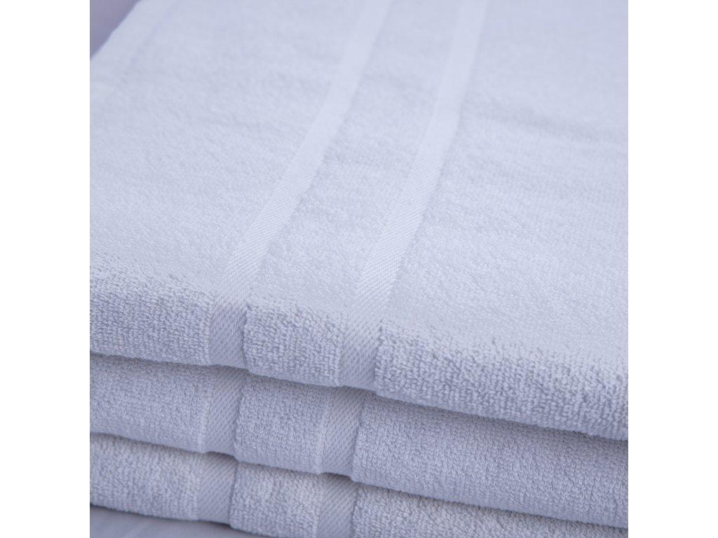 Ručník bavlněný 50 x 100 cm luxusní hotelový bílý
