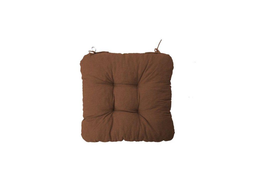Podsedák na židli Soft tmavě hnědý