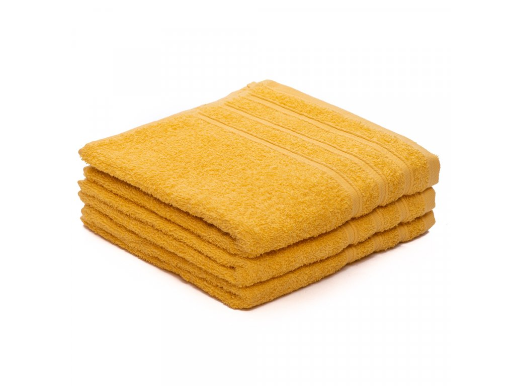 Ručník bavlněný 50 x 100 cm žlutý