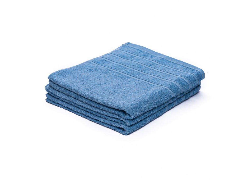 Osuška bavlněná 70 x 140 cm modrá