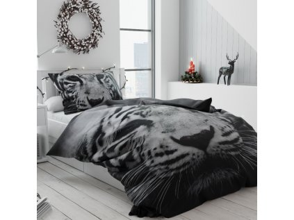 Povlečení 3D Tygr bílý