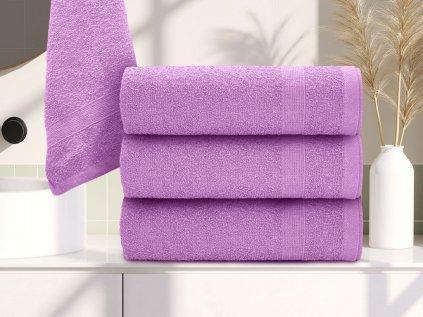 Ručník bavlněný 50 x 90 cm fialový
