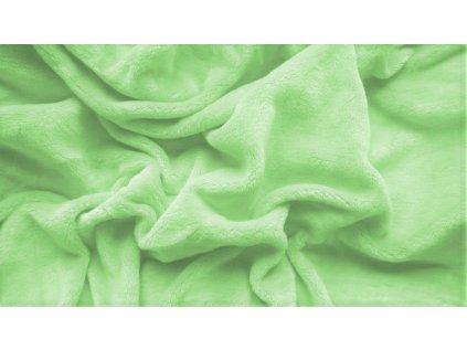 prostěradlo mikroplyš plyšové teplé jednolůžko 90 x 200 cm zelené