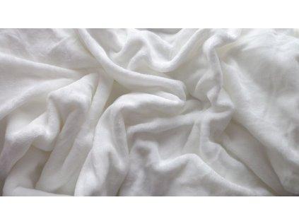 prostěradlo mikroplyš plyšové teplé dvoulůžko 180 x 200 cm bílé