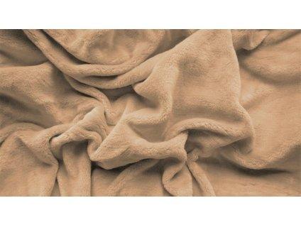 prostěradlo mikroplyš plyšové teplé dvoulůžko 180 x 200 cm béžové