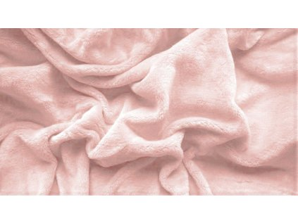 prostěradlo mikroplyš plyšové teplé dvoulůžko 180 x 200 cm lososové růžové oranžové