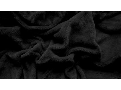 prostěradlo mikroplyš plyšové teplé jednolůžko 90 x 200 cm černé
