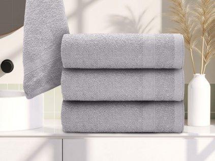 Ručník bavlněný 50 x 90 cm šedý