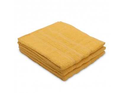 Osuška bavlněná 70 x 130 cm žlutá