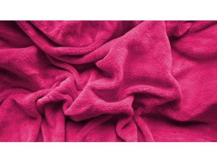 prostěradlo mikroplyš plyšové teplé dvoulůžko 180 x 200 cm růžové