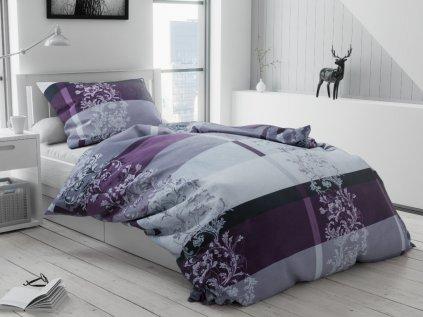 Bavlněné povlečení Luxury fialové