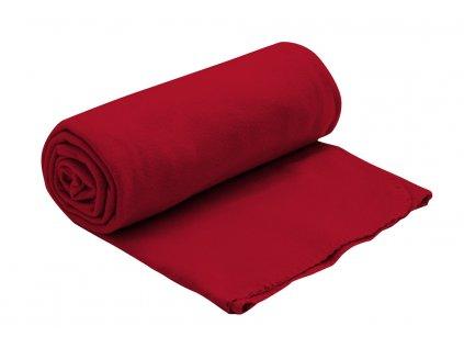 fleecova deka cervena 150x200