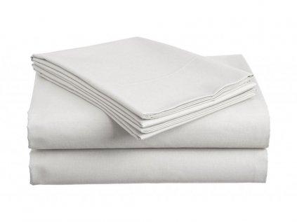 Bavlněné prostěradlo STANDARD bílé 220x240 cm