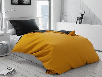 Bavlněné povlečení Duo žluté