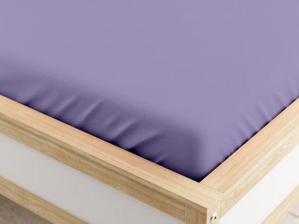 Jersey prostěradlo MICRO fialové 90 x 200 cm