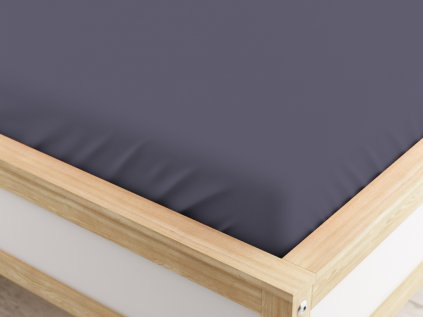 Jersey prostěradlo MICRO tmavě šedé 90 x 200 cm