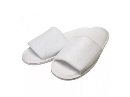 Pantofle hotelové bílé