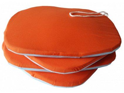 Sedák na židli Standard oranžový