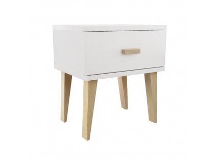 Noční stolek Venuci bílá
