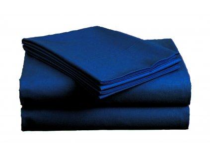 Bavlněné prostěradlo Standard tmavě modré 140x240 cm
