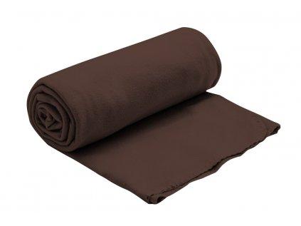 fleecova deka hneda 150x200