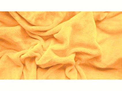 Prostěradlo mikroplyš 180x200 cm CORNY žluté