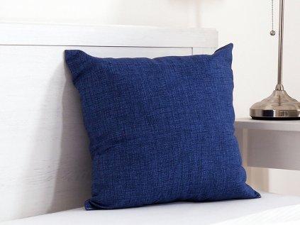 Dekorační polštářek Melange tmavě modrý