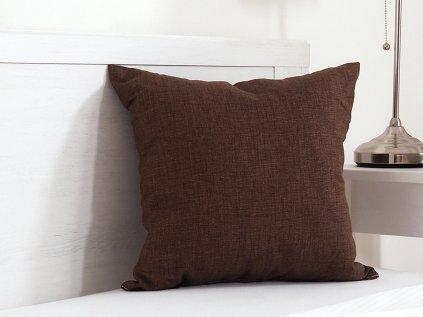 Dekorační polštářek Melange tmavě hnědý