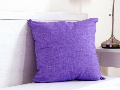Dekorační polštářek Melange světle fialový