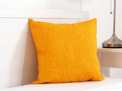 Dekorační polštářek Melange žlutý