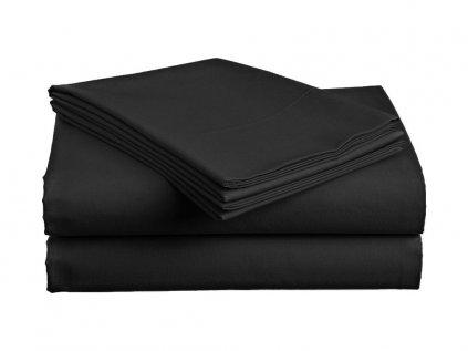 Bavlněné prostěradlo Standard černé 140x240 cm