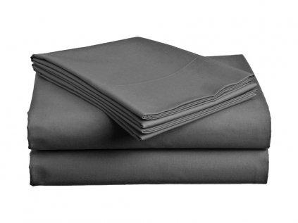 Bavlněné prostěradlo STANDARD tmavě šedé 220x240 cm