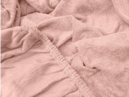 prostěradlo bavlněné froté dvoulůžko 180 x 200 cm oranžové meruňkové