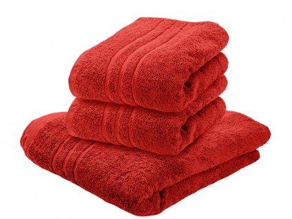 Ručník bavlněný 50 x 100 cm červený